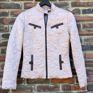Blanc Noir Women's Dusty Rose Quilted Med Jacket